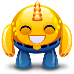 yellow monster happy icon