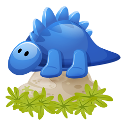 Dino blue icon