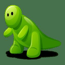 Dino green icon