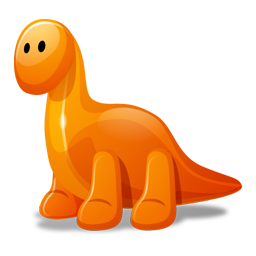 Dino orange icon