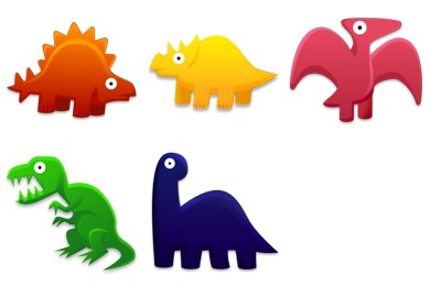 Dinosaurs Toys Icons