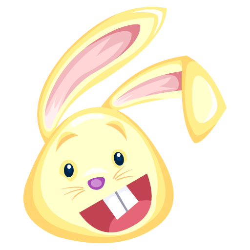 yellow rabbit icon