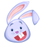 Blue-rabbit icon