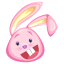 pink rabbit icon