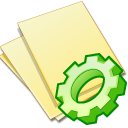 documents yellow exec icon