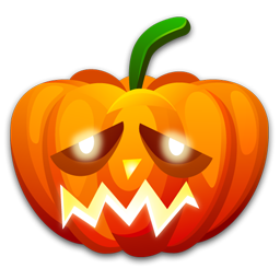 Halloween sad icon