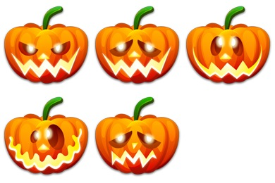 Halloween Emoticons Icons
