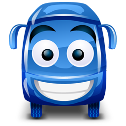 Bus blue icon