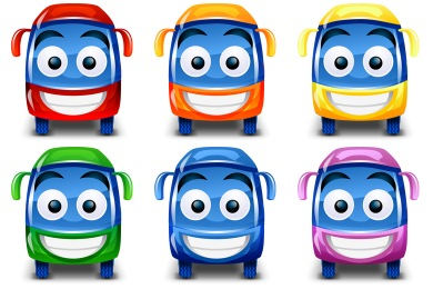 Happy Bus Icons