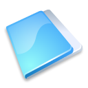 Folder close blue icon