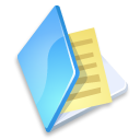 Folder documents blue icon