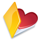 Folder favorits yellow icon