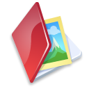Folder-image-red icon