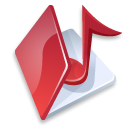 folder music red icon