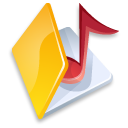 folder music yellow icon