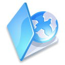 folder web blue icon