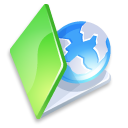 Folder web green icon