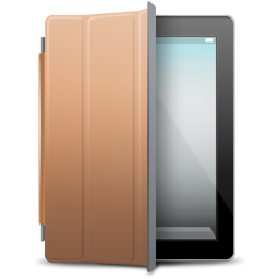 iPad Black brown cover icon