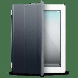 iPad White black cover icon