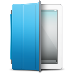 iPad White blue cover icon