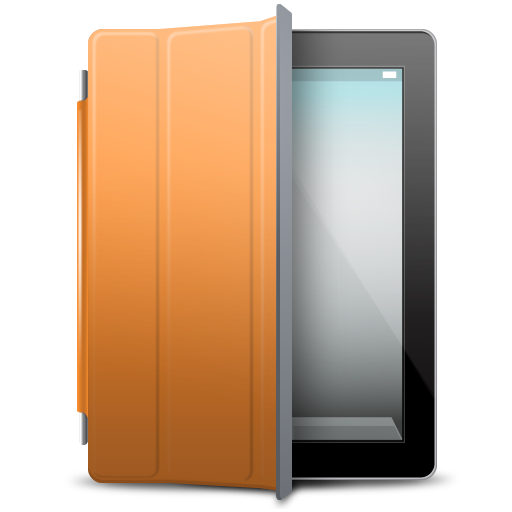 iPad Black orange cover icon