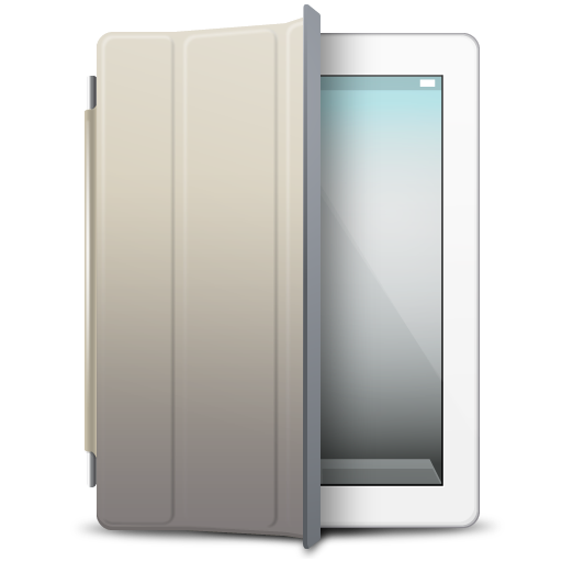 iPad White beige cover icon