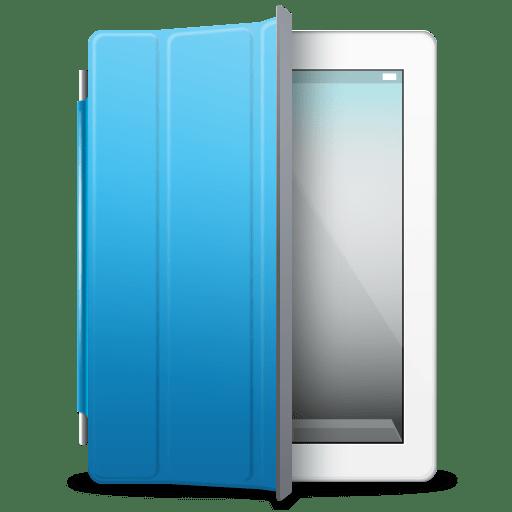 iPad White blue cover icon