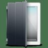 IPad-White-black-cover icon