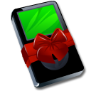 http://icons.iconarchive.com/icons/fasticon/ipod-christmas/128/ipod-black-gift-icon.png