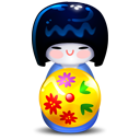 Kokeshi blue icon