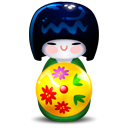 Kokeshi-green icon