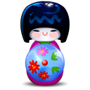 Kokeshi pink icon