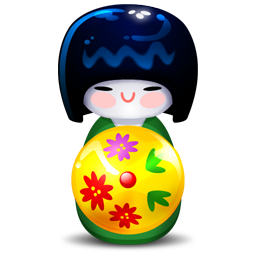 Kokeshi green icon
