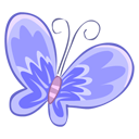 Blue-butterfly icon