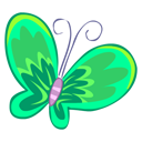 Green-Butterfly icon