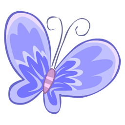 Blue butterfly icon