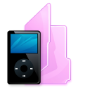folder ipod black icon