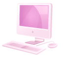 http://icons.iconarchive.com/icons/fasticon/pink-folders/128/imac-icon.png