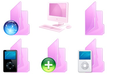 Pink Folders Icons