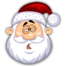Tired SantaClaus icon