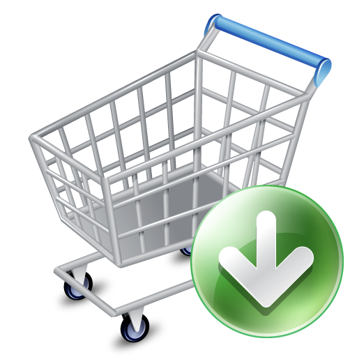 shop cart down icon