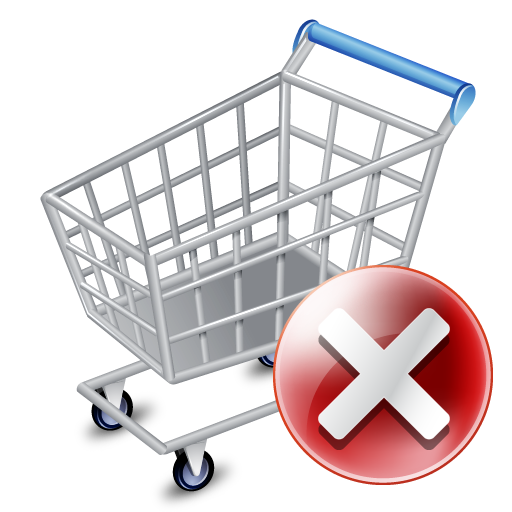 Shop-cart-exclude icon