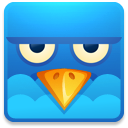 Twitter square angry icon