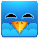 Twitter-square-happy icon