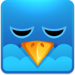 Twitter square sleeping icon