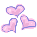 hearts love icon