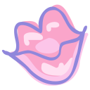 mouth lips kiss icon