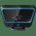 Broken-monitor icon