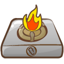 Cooker fire icon