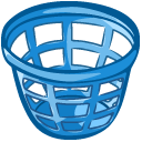 trash basket icon